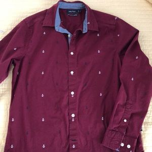 Nautica Classic Fit / Stretch Long Sleeve Shirt